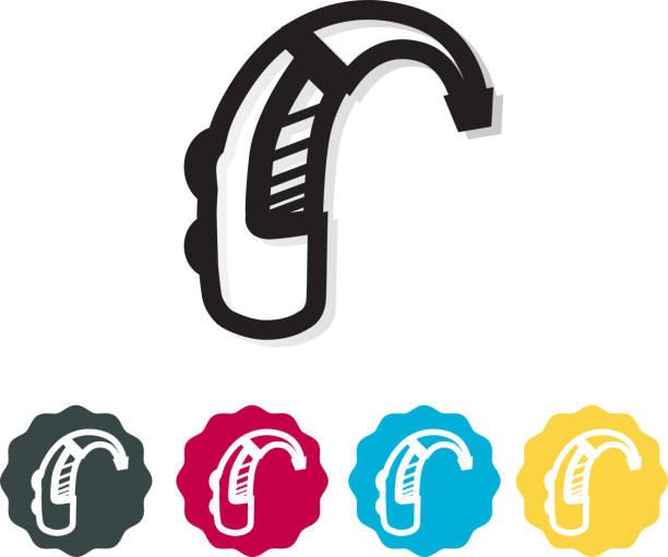 助聽器圖示-插圖 - hearing aid 幅插畫檔、美工圖案、卡通及圖標