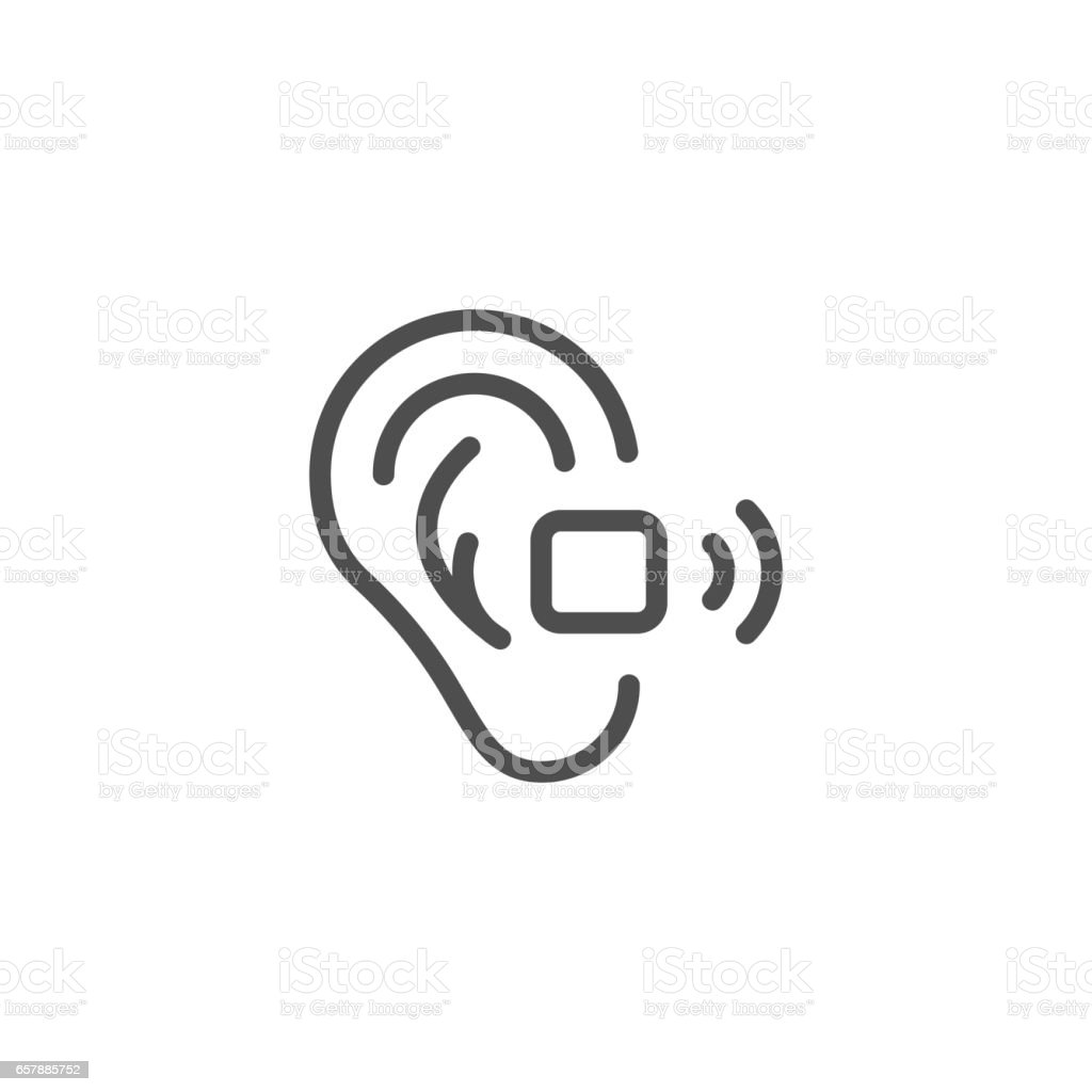 Hearing Aid Line Icon Stock Vector Art More Images Of Aids