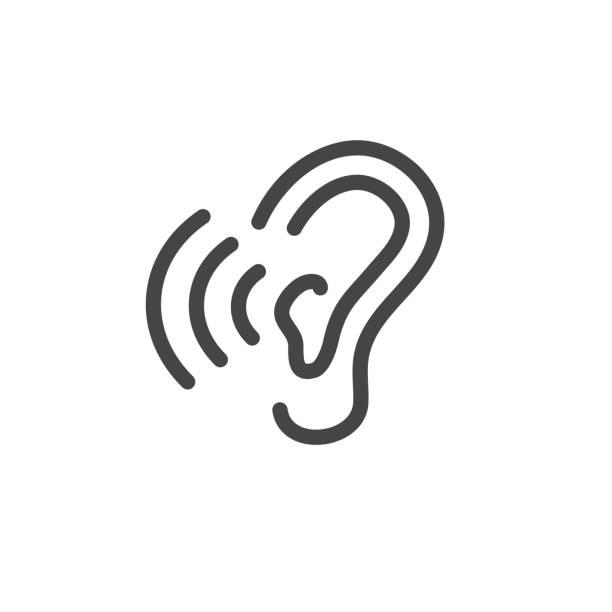 聲音波圖像集 - hearing aid 幅插畫檔、美工圖案、卡通及圖標