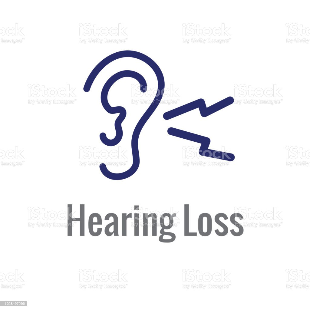 Hearing Aid Or Loss With Sound Wave Image Icon Stock Vector Art