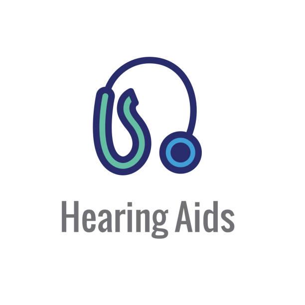 聲波圖像的助聽器或損耗. 圖示 - hearing aid 幅插畫檔、美工圖案、卡通及圖標