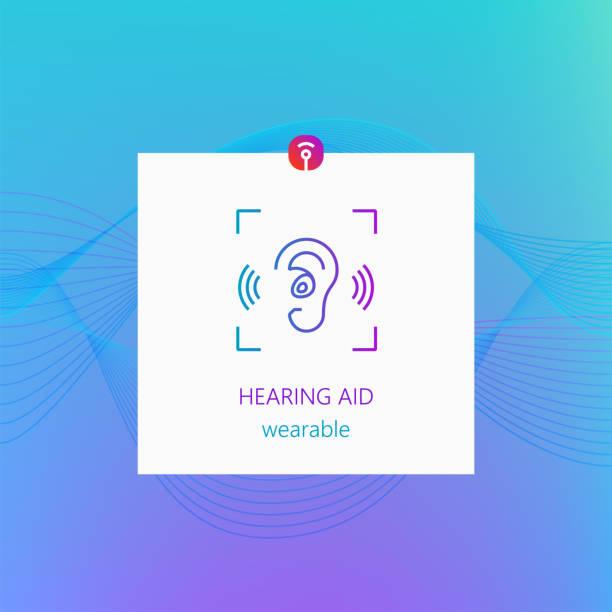 助聽器耐磨。豐富多彩的設計 - hearing aid 幅插畫檔、美工圖案、卡通及圖標