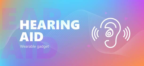 助聽器佩戴徽章 - hearing aid 幅插畫檔、美工圖案、卡通及圖標