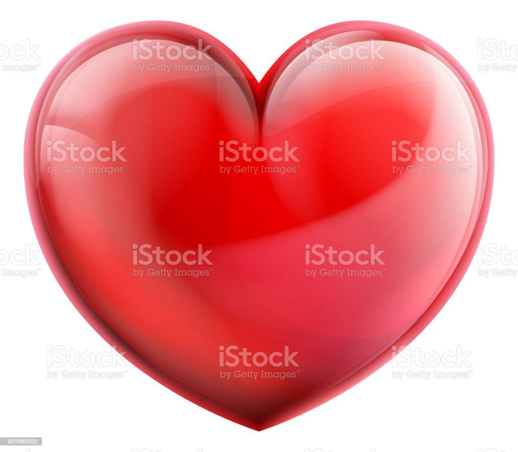 Heart 3d Icon vector art illustration