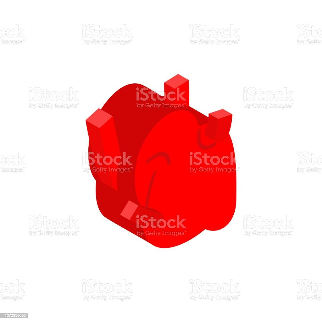 Heart Anatomy Isometric Isolated Internal Organ 3d Anatomy Of Human