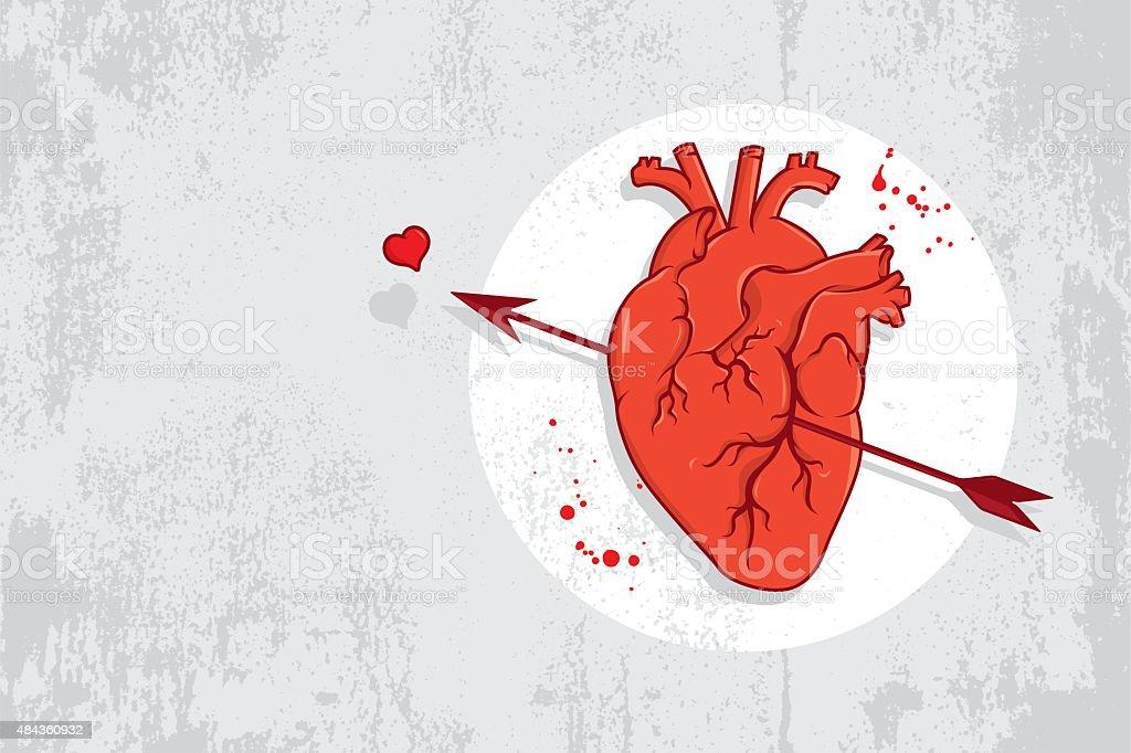 Herz und Pfeil graffiti – Vektorgrafik