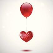istock Heart and balloon 155630149