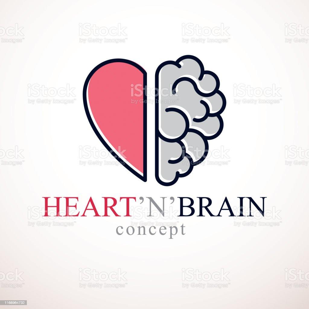 心と脳の概念感情と合理的思考の間の対立チームワークと魂と知性の ...