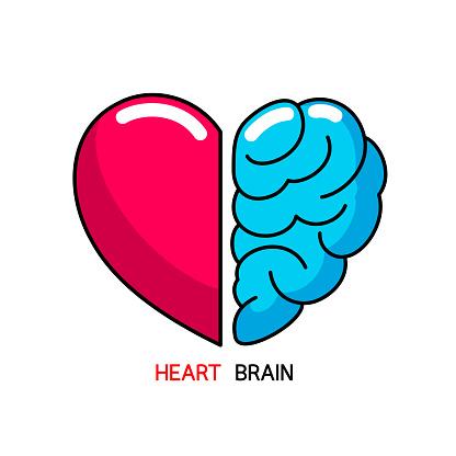 心と脳の概念感情と合理的思考の対立チームワーク魂と知性のバランス ...