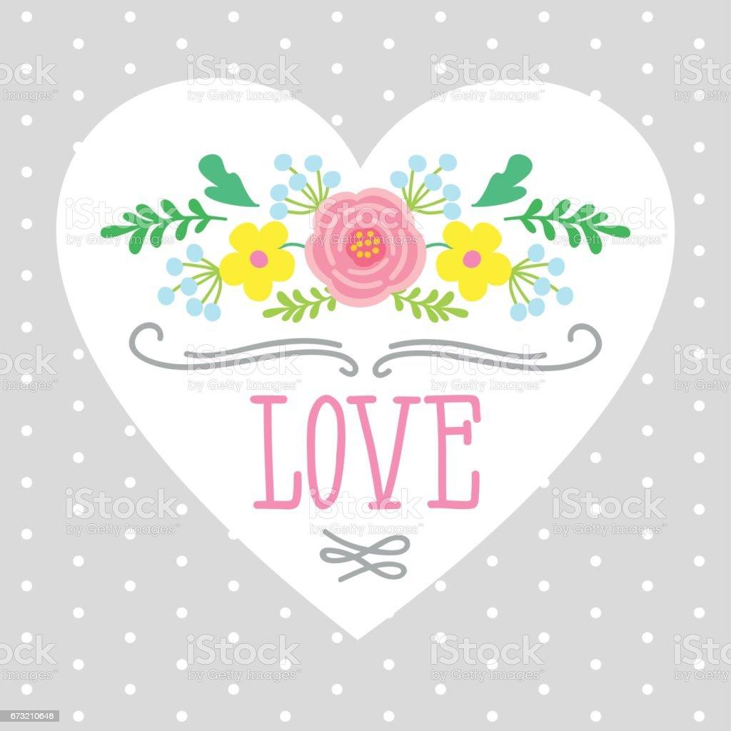 Herz Und Umrahmt Von Blumen Stock Vektor Art und mehr Bilder von ...