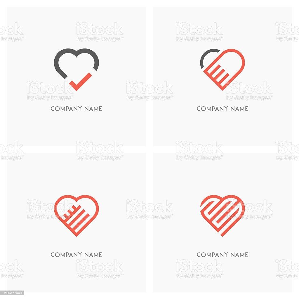 Heart and love logo heart and love logo - arte vetorial de stock e mais imagens de adulto royalty-free