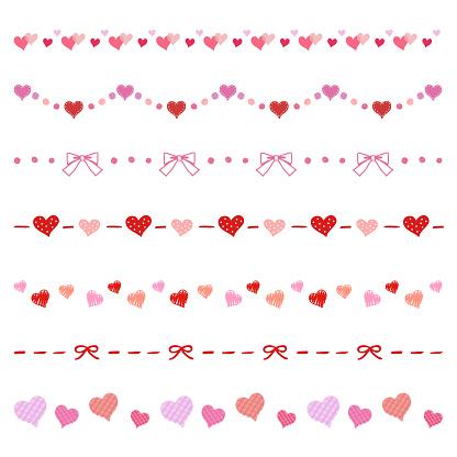 Heart and Ribbon decorative borders