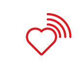 Heart and wifi icon