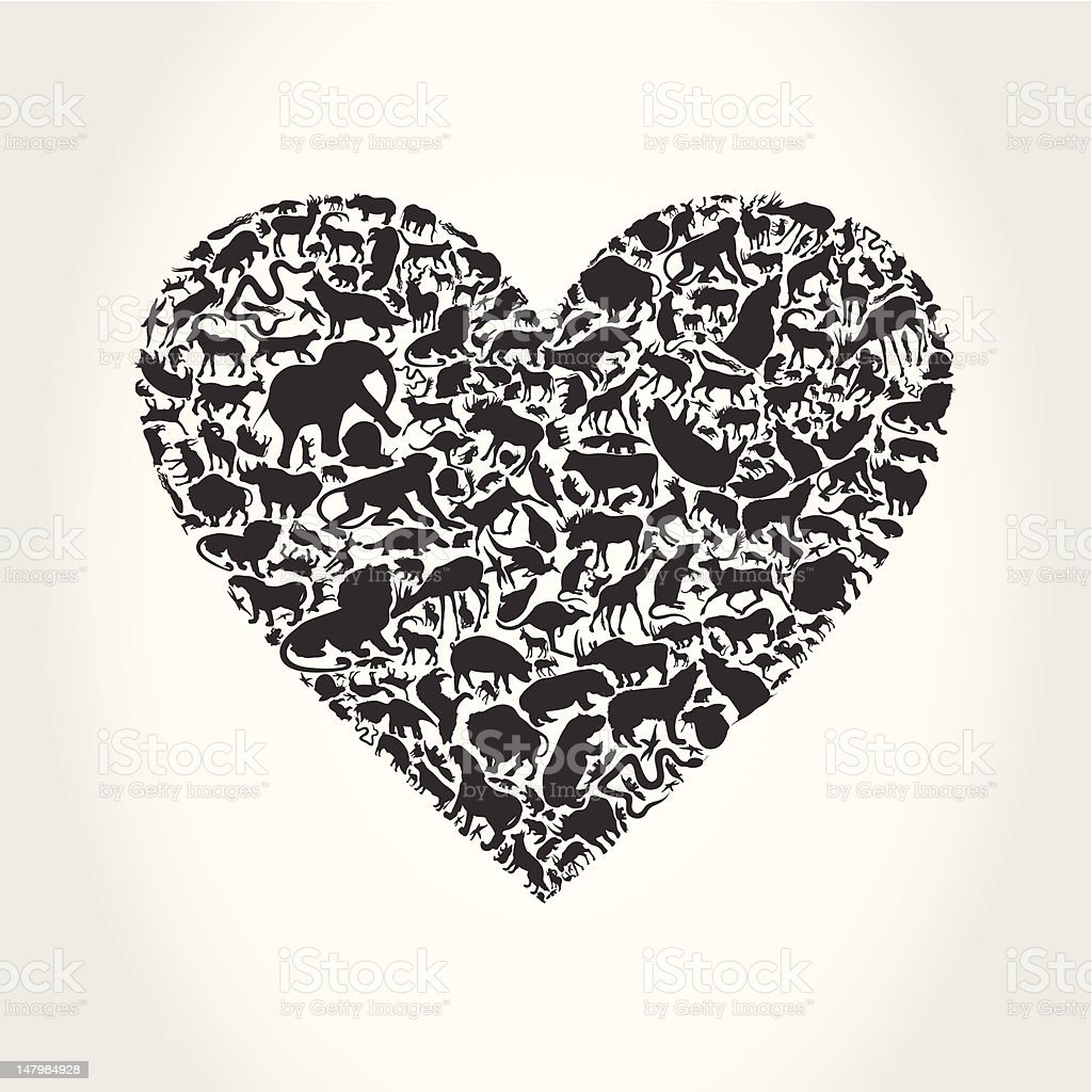 Heart animal royalty-free stock vector art