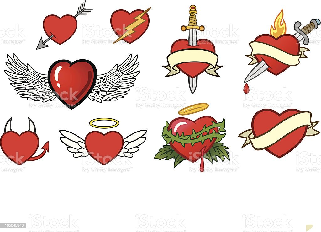 Heart Art vector art illustration