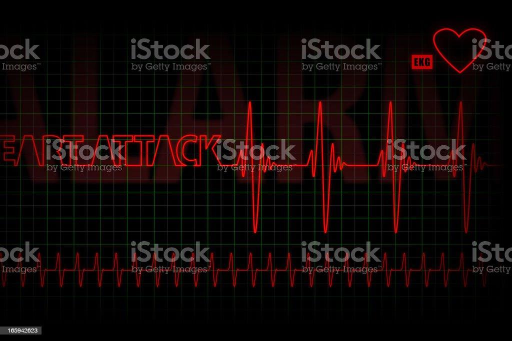 heart attack - cardiogram royalty-free stock vector art