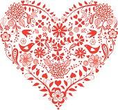 Vector heart background .