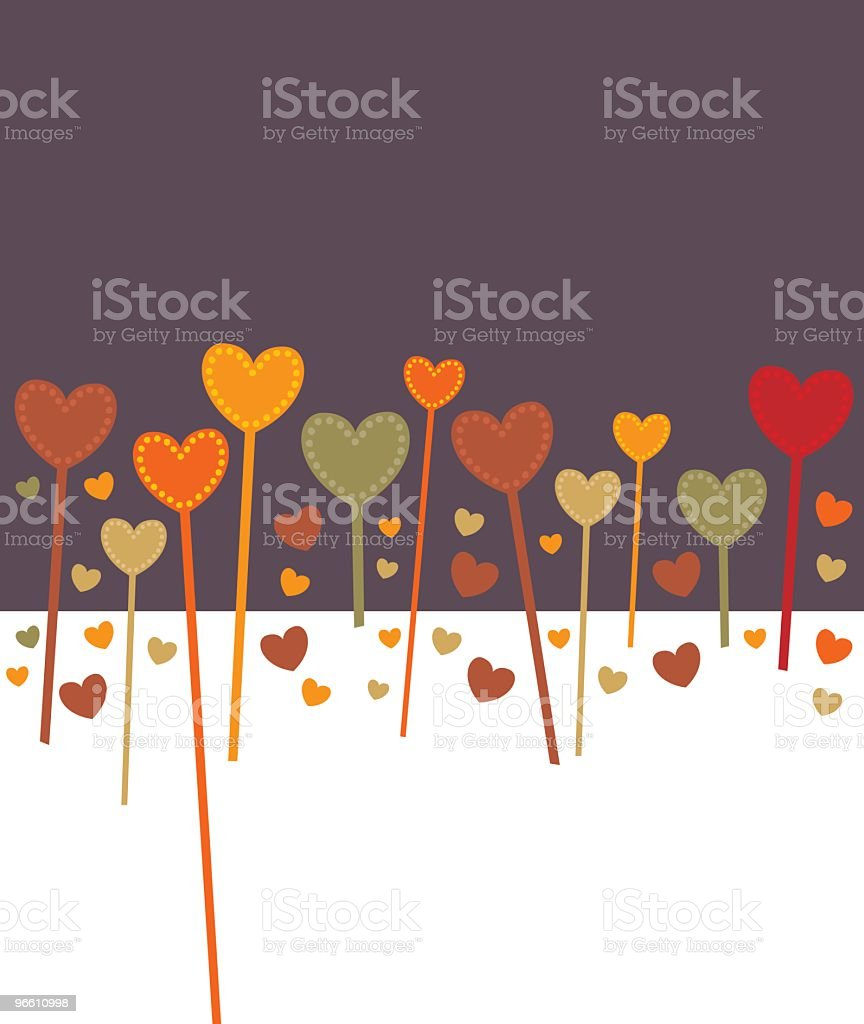 Heart Background - Royalty-free Abstract stock vector