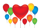 Toy, Heart Shape, Balloon, Valentine's Day - Holiday, Funny