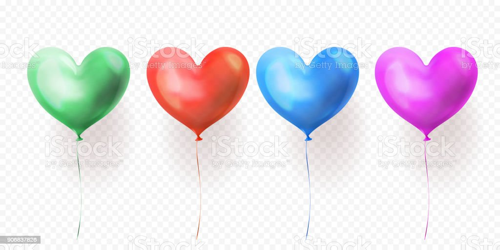 透明なハートの風船はバレンタインデー結婚式や誕生日グリーティング ...