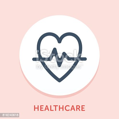 Curved Style Line Vector Icon for Healthcare.