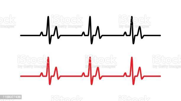 하트 비트 라인 건강관리와 의술에 대한 스톡 벡터 아트 및 기타 이미지