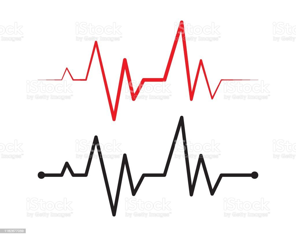 Heart Beat Line Vector Stock Illustration Download Image Now