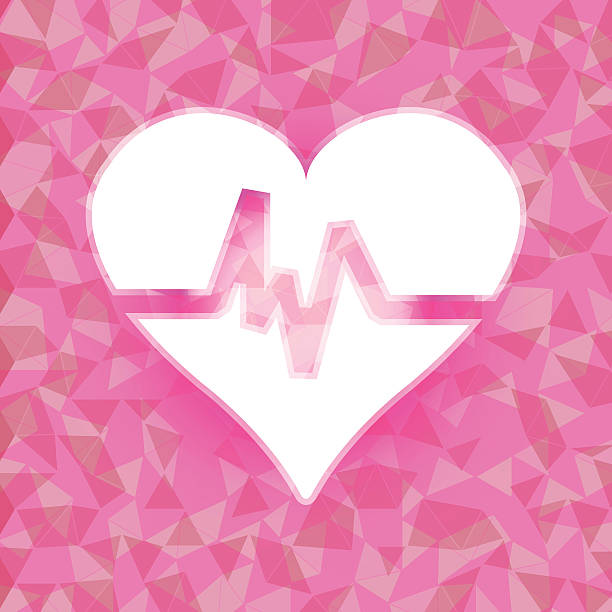 Heart beat on pink dazzled triangle background Heart beat on pink dazzled triangle background, stock vector dazzled stock illustrations