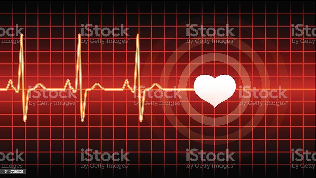 Heart Beat vector art illustration