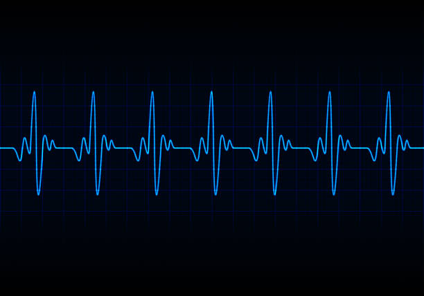 illustrazioni stock, clip art, cartoni animati e icone di tendenza di heart beats cardiogram background - elettrocardiogramma
