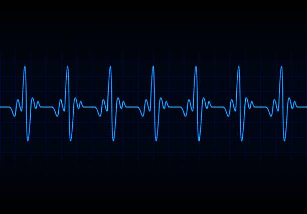 Heart beats cardiogram background Heart beats cardiogram background taking pulse stock illustrations