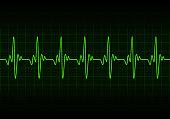 Heart beats cardiogram background