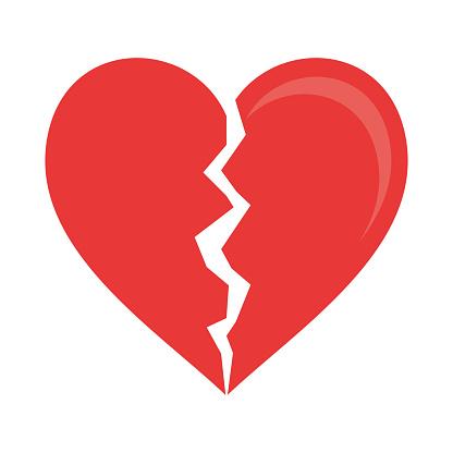 Heart broken symbol
