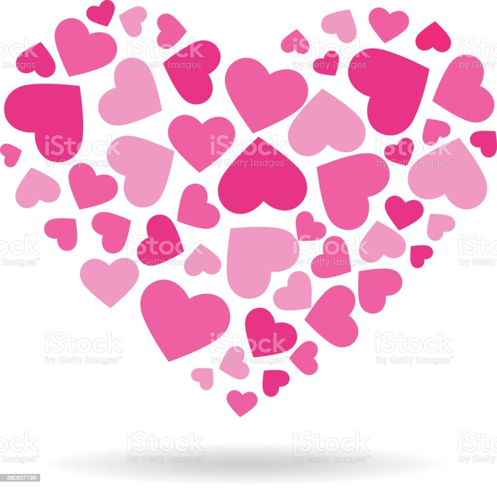 Heart By Hearts Pink Colors Logo Stock Vector Art & More Images of ...