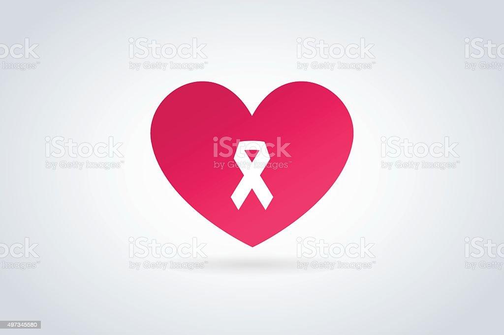 Heart Cancer Medical Icon Concept Stock Vector Art 497345580 Istock