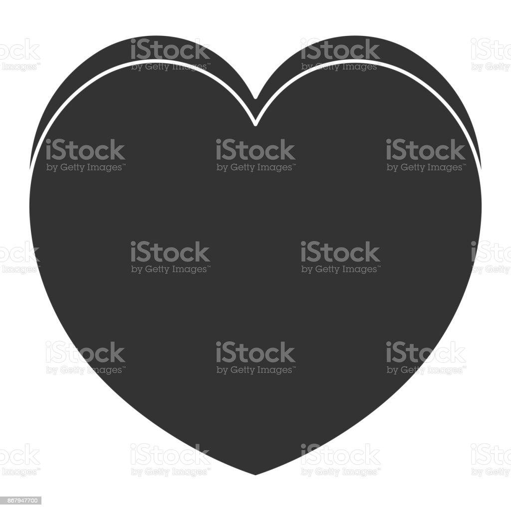 heart cardiology isolated icon vector art illustration