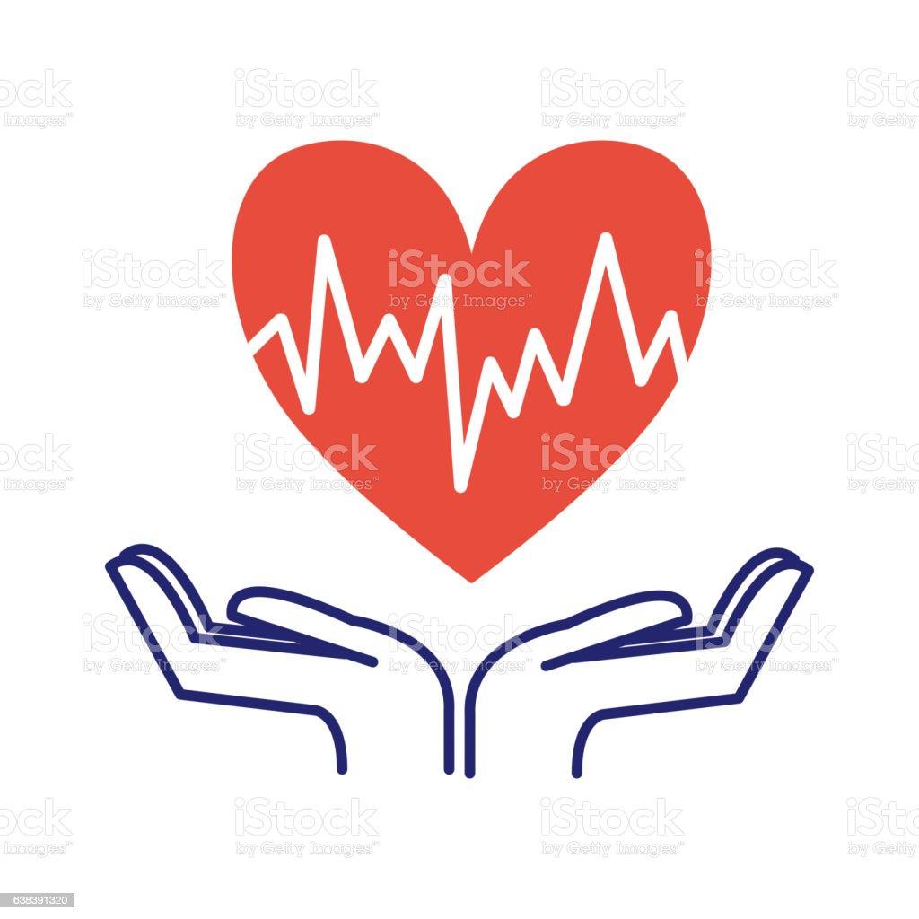 Heart care symbol vector illustration. vector art illustration