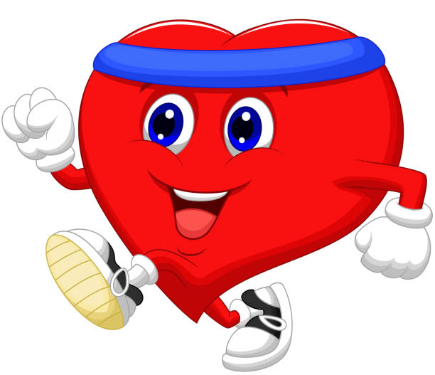 Best Cute Heart Exercising Healthy Illustrations, Royalty ...
