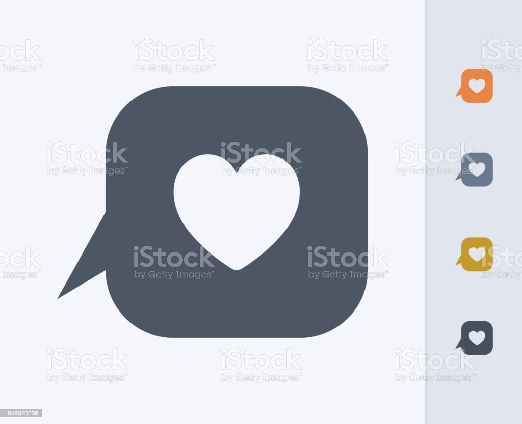 Heart & Chat Bubble - Carbon Icons vector art illustration