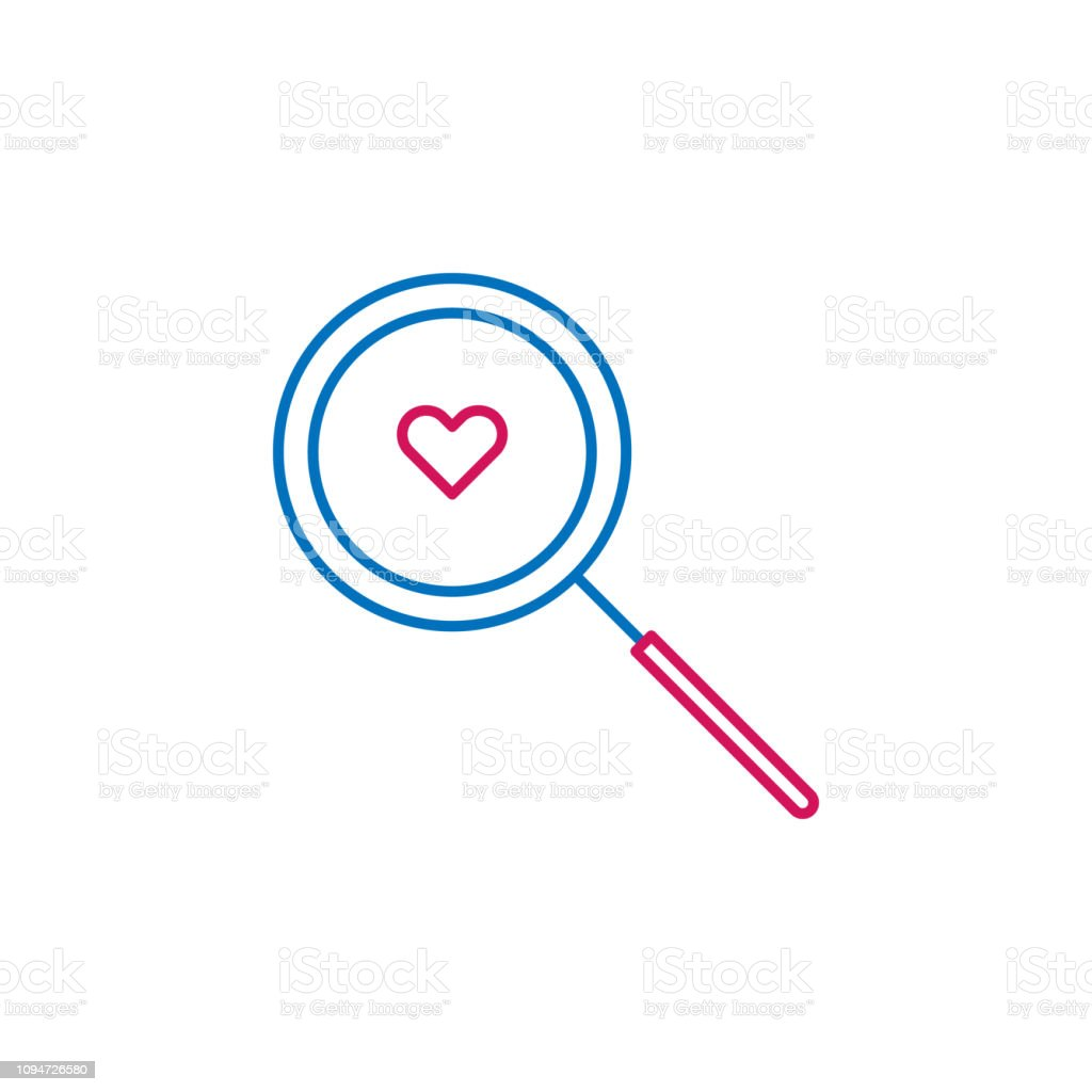 Heart Date Find Love Icon Element Of Romance For Mobile Concept And