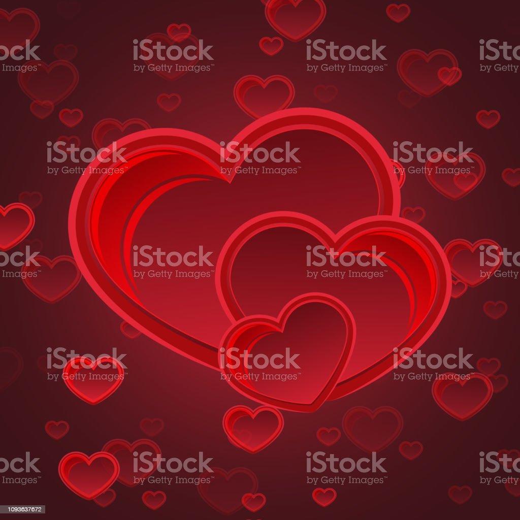 Cœur Déclaration Damour Carte Postale Félicitations Valentin