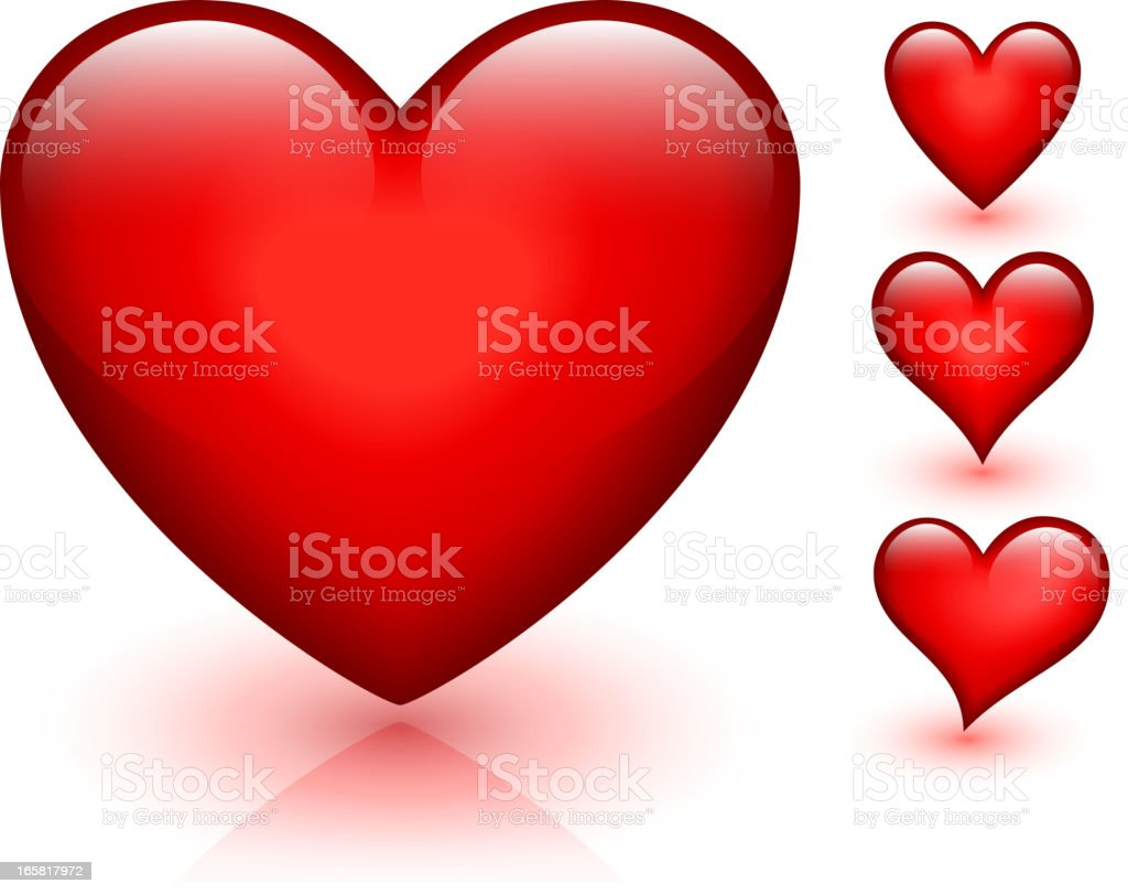 Heart Design Collection Red Valentine's day vector graphic vector art illustration