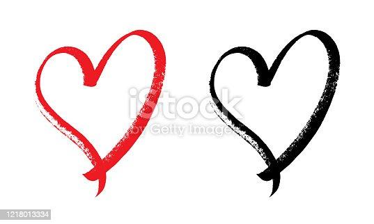istock heart design expressive brush. 1218013334