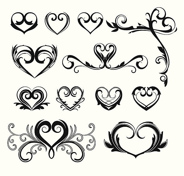 心臓のデザイン - ハートのタトゥー点のイラスト素材/クリップアート素材/マンガ素材/アイコン素材