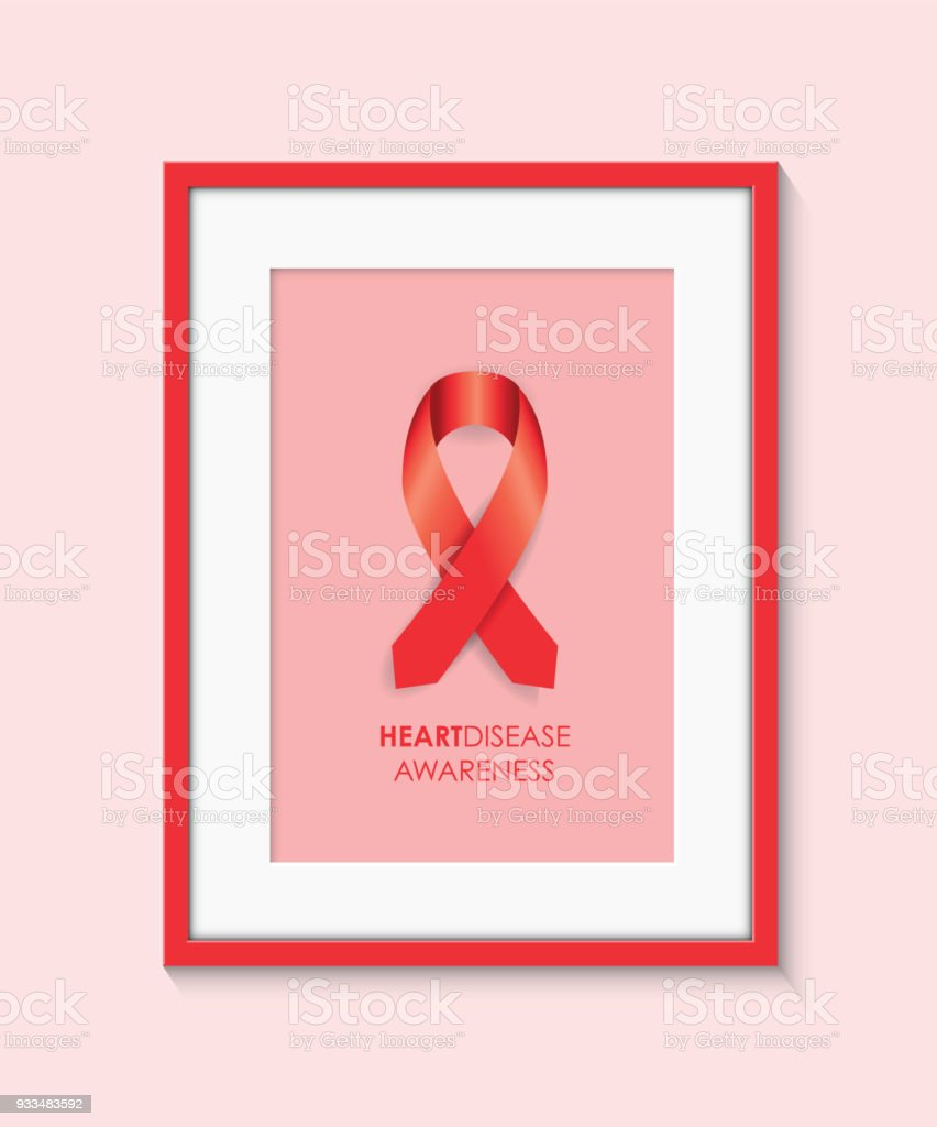 Heart Disease Awareness Frame Stock Vector Art More Images Of