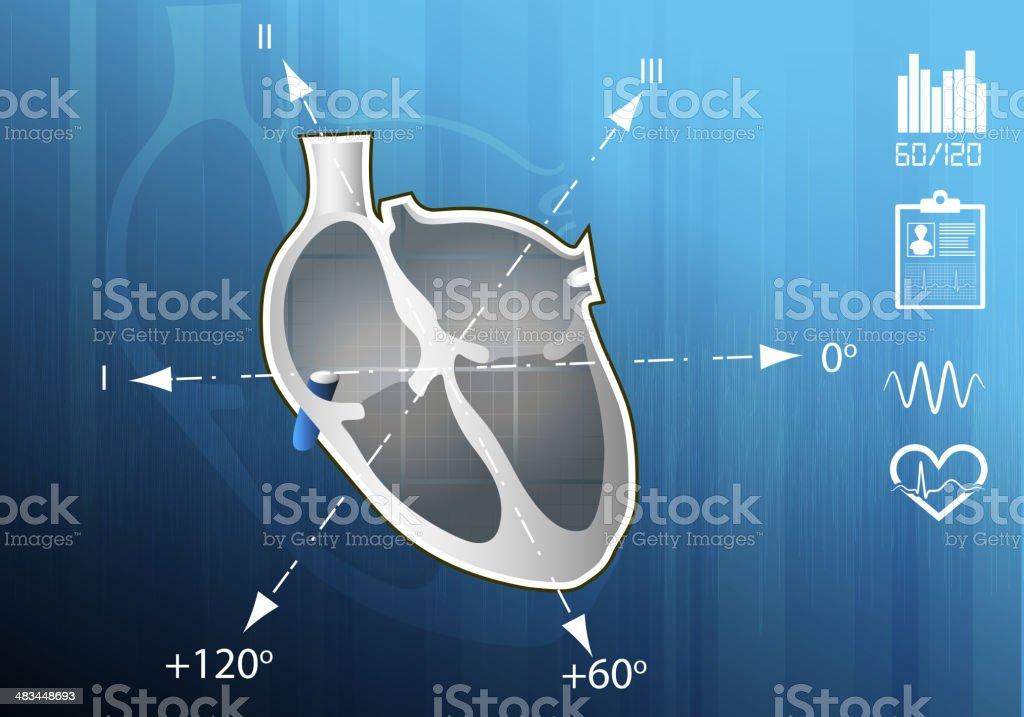 Heart Disease Management royalty-free stock vector art