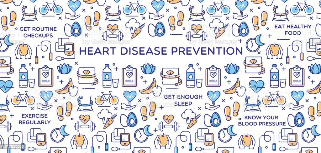Heart Disease Prevention Vector Illustration vector art illustration