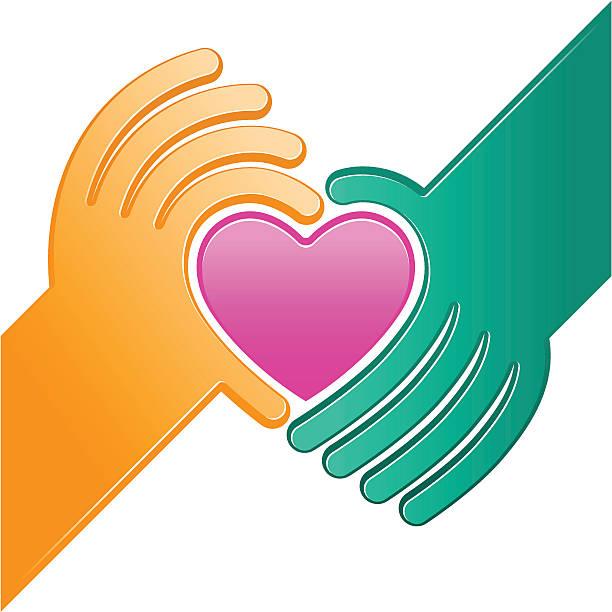 Heart donation vector art illustration