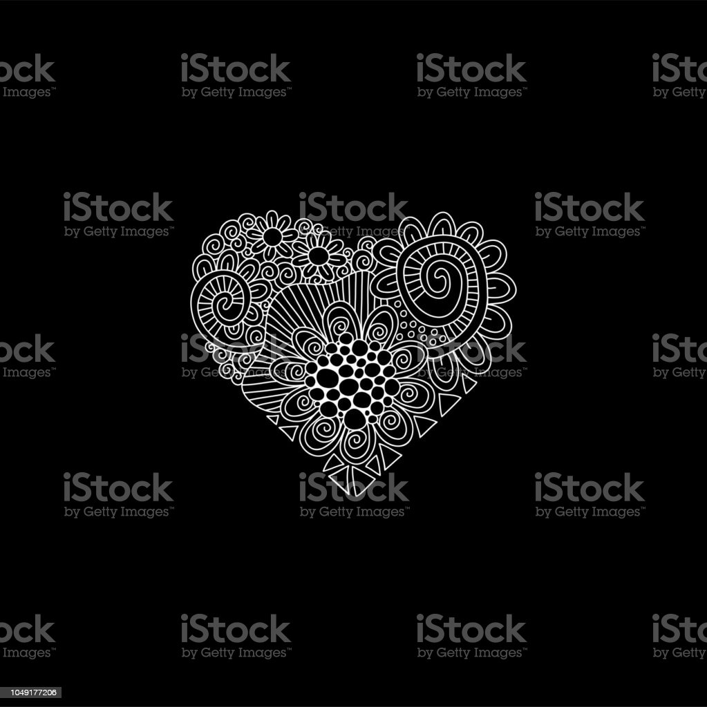 Heart doodle Hand Drawn Vector vector art illustration