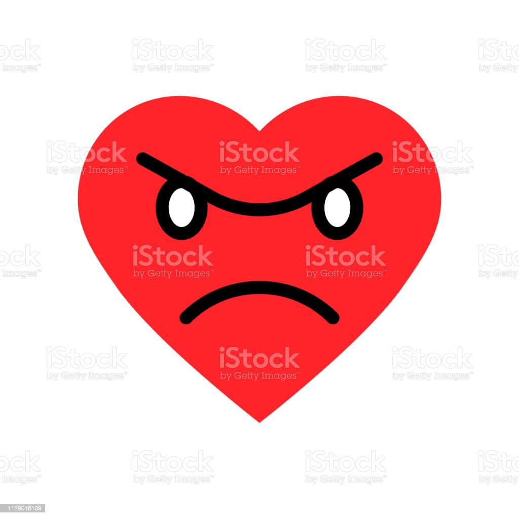 Heart Emoticon Vector Illustration Isolated Flat Style Icon